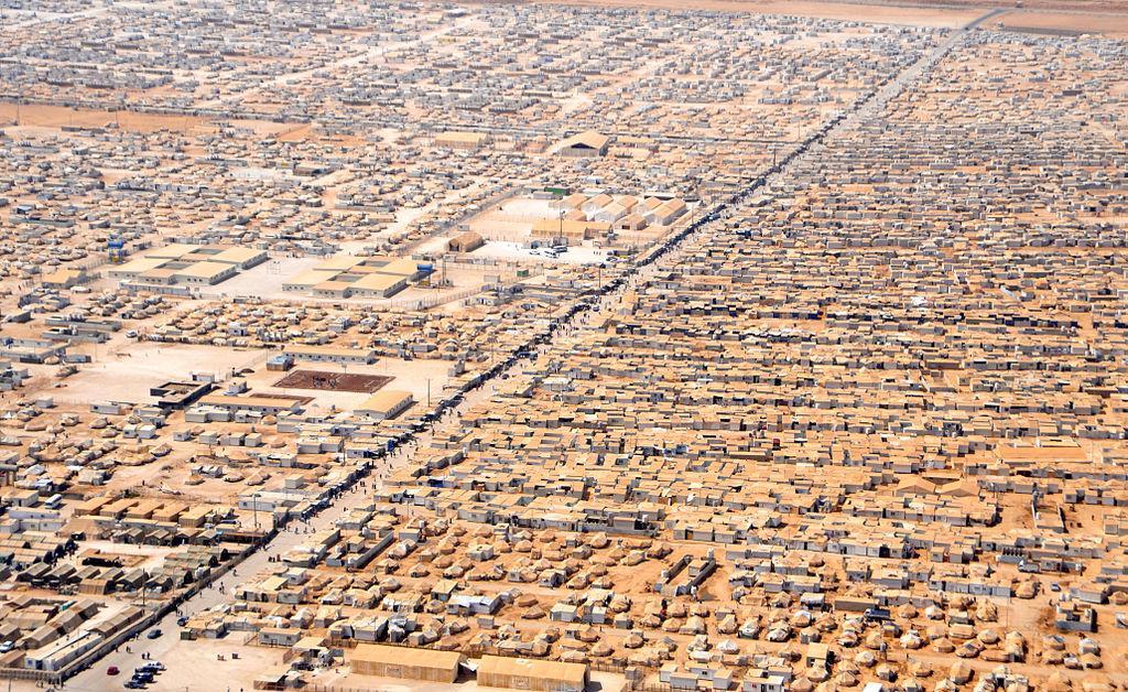 Zaatri refugee camp in Jordan