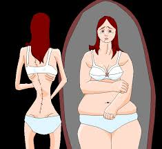 Many people with eating disorders see their body distorted.