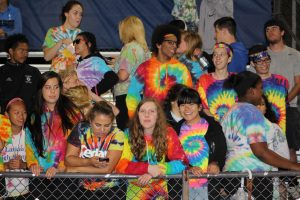 Larkin fans cheer on their team at the 9/23 Homecoming game at Burgess Field