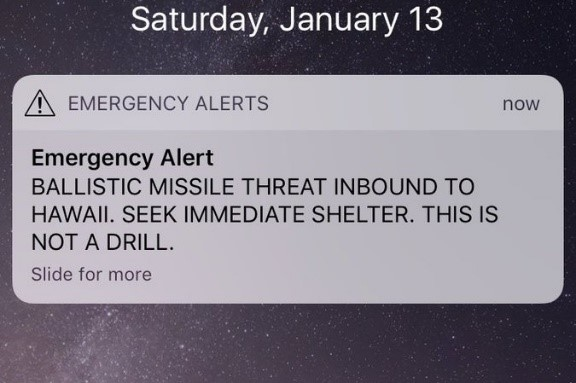 What caused the Hawaii ballistic missile false alarm?