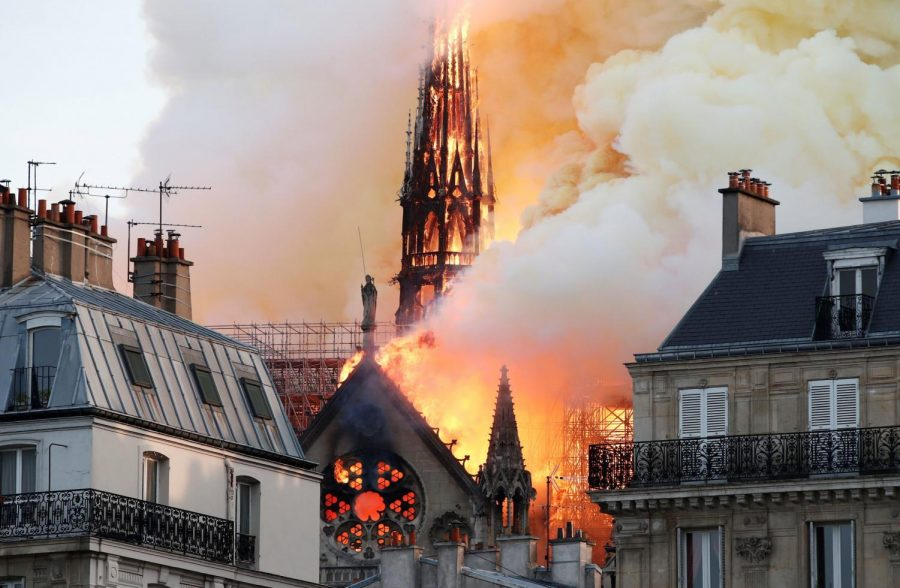 Notre+Dame+Cathedral+Catches+Fire